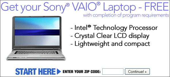 Save And Get Your Free Sony VAIO Laptop Today